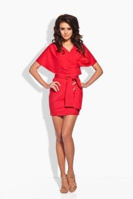 1 L138 sukienka czerwony PROMO