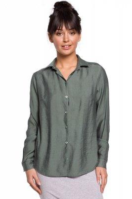 B151 Koszula z pagonami - miętowa