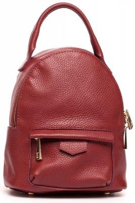 SB515 Skórzany plecak - bordowy