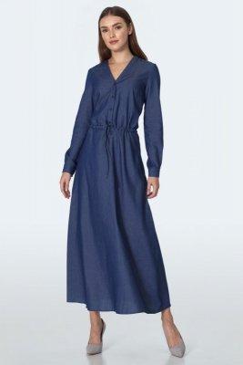 Jeansowa sukienka maxi  - S156