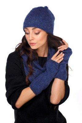 Zestaw czapka,komin i rękawiczki LC133 jeans