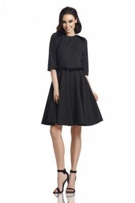 1 Sukienka  L291 czarny PROMO
