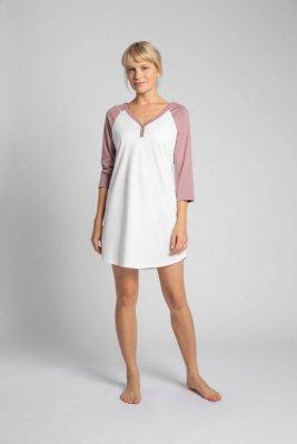 LA018 Bawełniana koszula nocna - ecru
