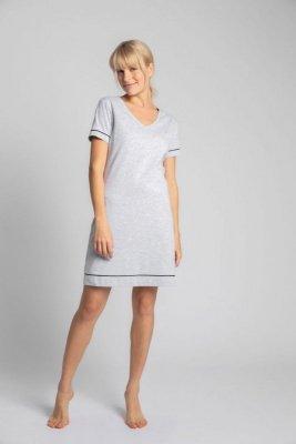 LA021 Bawełniana koszula nocna - popielaty