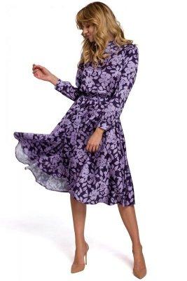 K084 Sukienka z rozcięciem na plecach - model 2