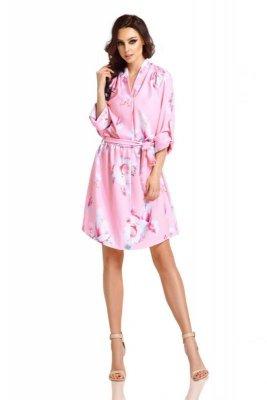 1 Sukienka  L301 pudrowy róż PROMO