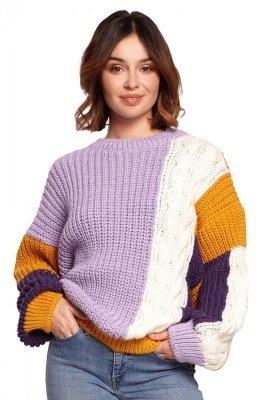 BK066 Sweter wielokolorowy - model 2