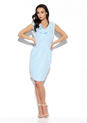 1 Sukienka  L337 błękit PROMO
