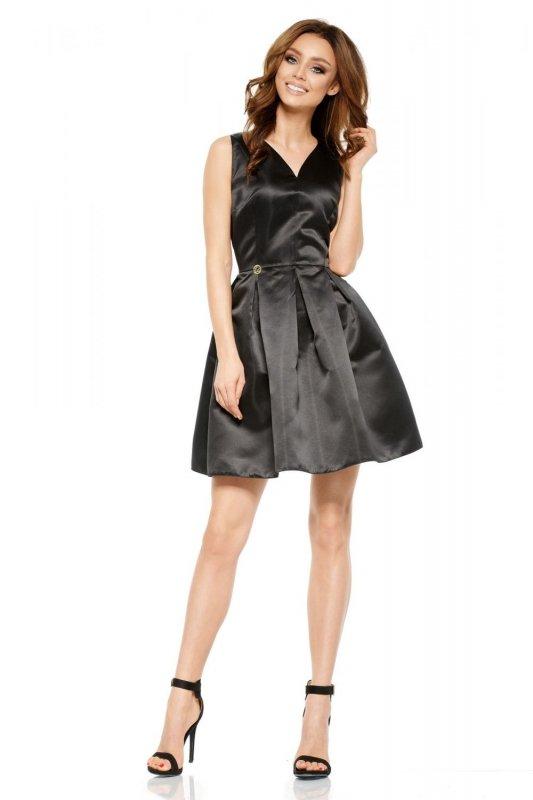 Rozkloszowana sukienka L257 czarny