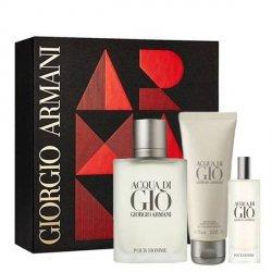Giorgio Armani Acqua di Giò pour Homme Zestaw - EDT 100 ml + EDT 15 ml + SG 75 ml