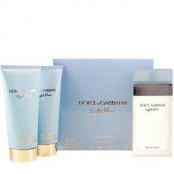 Dolce & Gabbana Light Blue Zestaw - EDT 100 ml + BC 100 ml + SG 100 ml