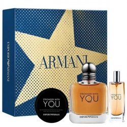 Emporio Armani Stronger With You Zestaw - EDT 100 ml + EDT 15 ml + HSB 50 ml