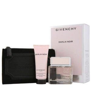 Givenchy DAHLIA NOIR Zestaw - Woda toaletowa 75 ml + Perfumowany żel do ciała 75 ml + kosmetyczka