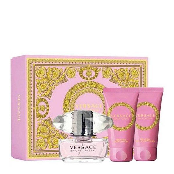 Versace Bright Crystal Set - Eau de Toilette 50 ml + Body Lotion 50 ml + Shower Gel 50 ml