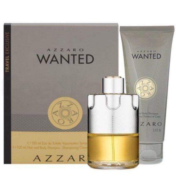 Azzaro Wanted Set - Eau de Toilette 100 ml + Hair and Body Shampoo 100 ml