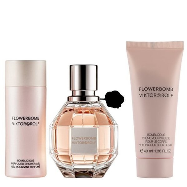 Victor & Rolf Flowerbomb Set - Eau de Parfum 50 ml + Body Cream 40 ml + Shower Gel 50 ml