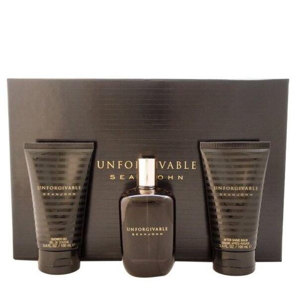 Sean John Unforgivable Set - Eau de Toilette 125 ml + After Shave Balm 100 ml + Shower Gel 100 ml
