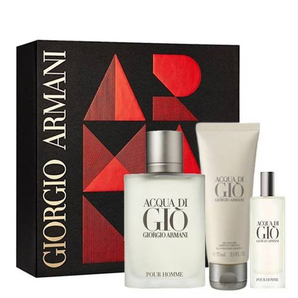 Giorgio Armani Acqua di Giò pour Homme Set - Eau de Toilette 100 ml + Eau de Toilette 15 ml + Shower Gel 75 ml