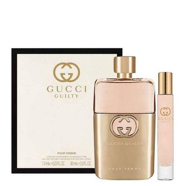Gucci Guilty pour Femme Set - Eau de Parfum 90 ml + Eau de Parfum 7.4 ml
