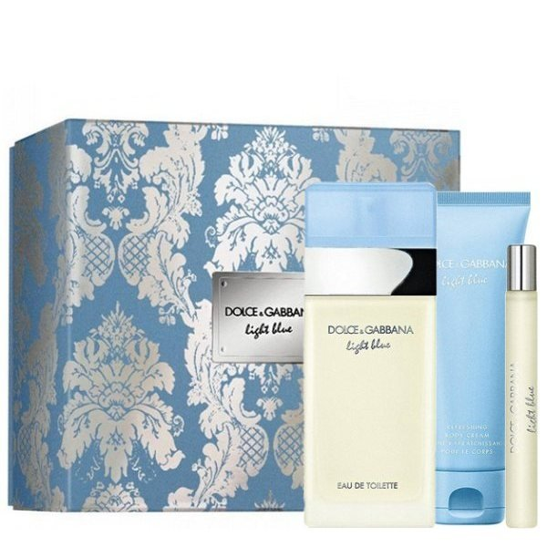 Dolce & Gabbana Light Blue Set - Eau de Toilette 100 ml + Eau de Toilette 10 ml + Perfumed Body Cream 50 ml