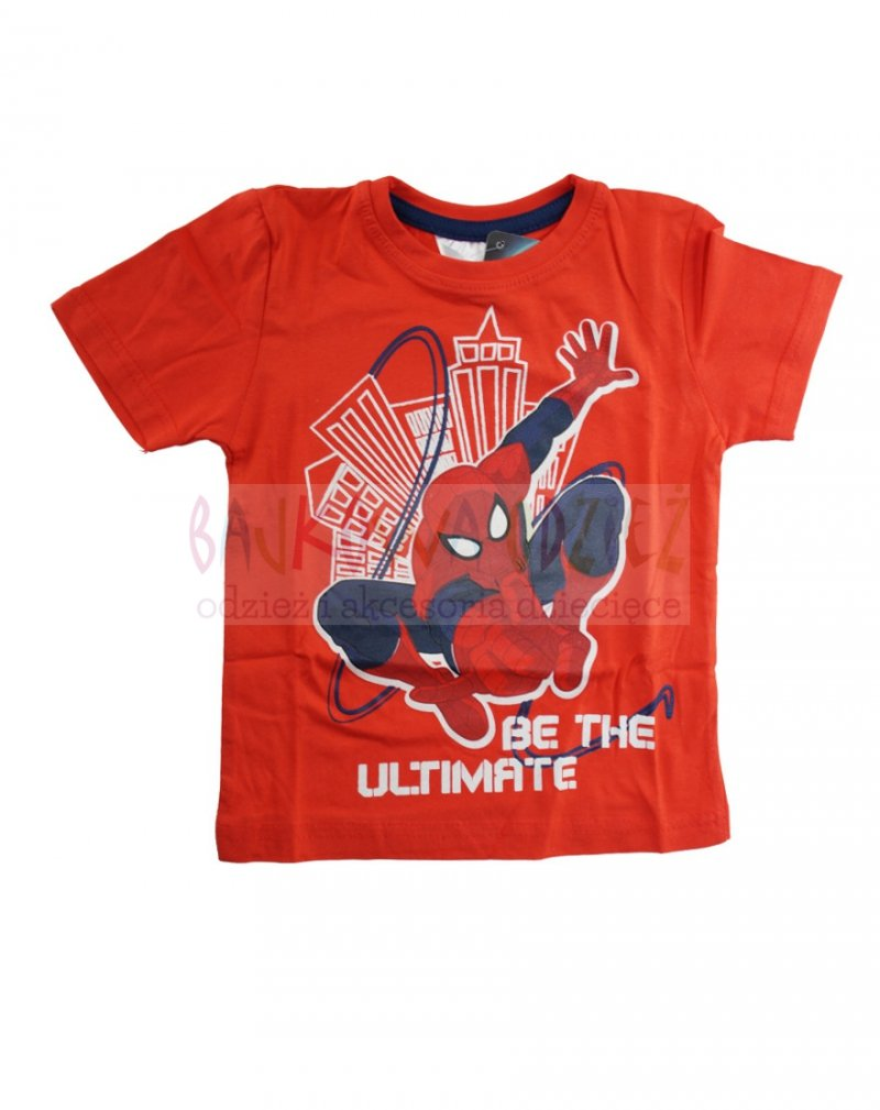 T-shirt Spiderman kolor czerwony