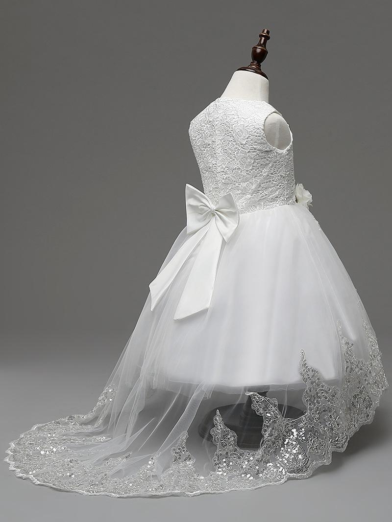Sukienka asymetryczna tren Mia