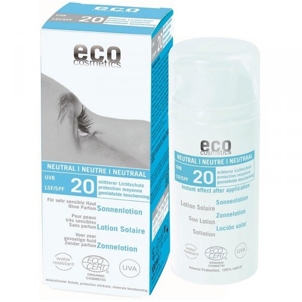 Eco Cosmetics Emulsja na słońce SPF 20 NEUTRAL 100 ml