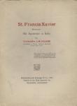 Zaleski L. M. - St. Francis Xavier Missionary. His Apostolate in India.