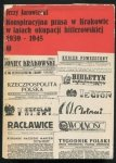 Jarowiecki Jerzy - Konspiracyjna prasa w Krakowie w latach okupacji hitlerowskiej 1939-1945.