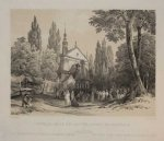 [KALWARIA Zebrzydowska]. Capelle-Grab der Mutter Gottes zu Kalvaria in Galizien. Litografia tonowana form. 18,7x25,5 na ark. form. 28,5x41 cm.