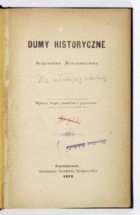 MORGENBESSER Aleksander - Dumy historyczne. Wydanie II, pomnożone i poprawione.