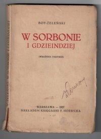 Boy-Żeleński - W Sorbonie i gdzieindziej (wrażenia paryskie)