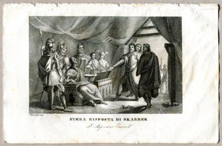 Fiera Risposta Di Skarbek - miedzioryt 1831