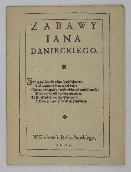 Daniecki Ian - Zabawy [reprint]