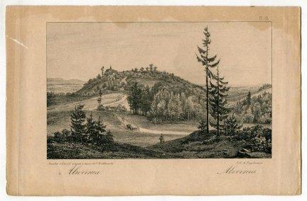 [ALWERNIA]. Alwernia. Alvernia. Litografia form. 11x18,4 na ark. 15,4x24,1 cm.