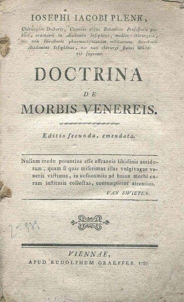 PLENK Ioseph Iacob — Doctrina de morbis venereis. Editio secunda, emandata.