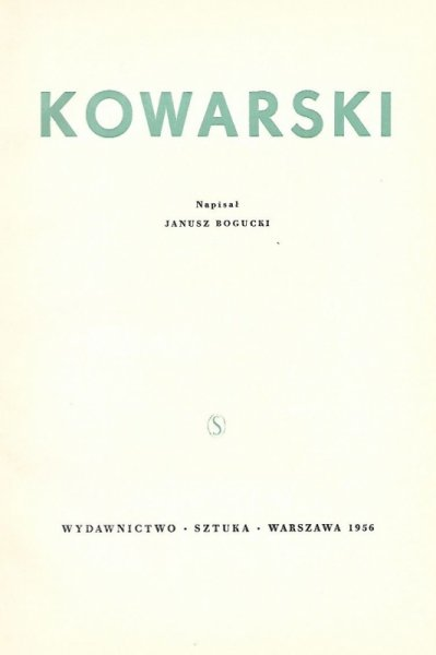 Bogucki Janusz - Kowarski