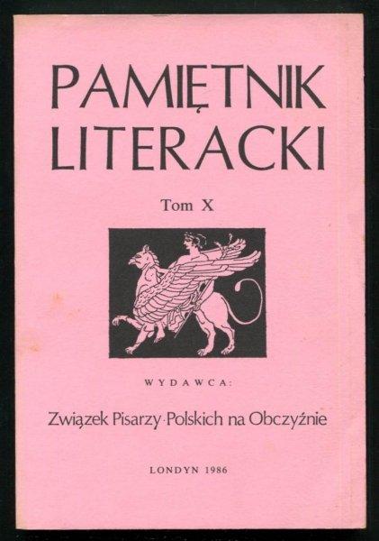 Pamiętnik Literacki. T. 10.