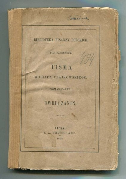 Czajkowski Michał - Owruczanin.