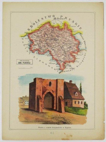 Bazewicz J. M. - Powiat rypiński guberni płockiej - mapa 1907.