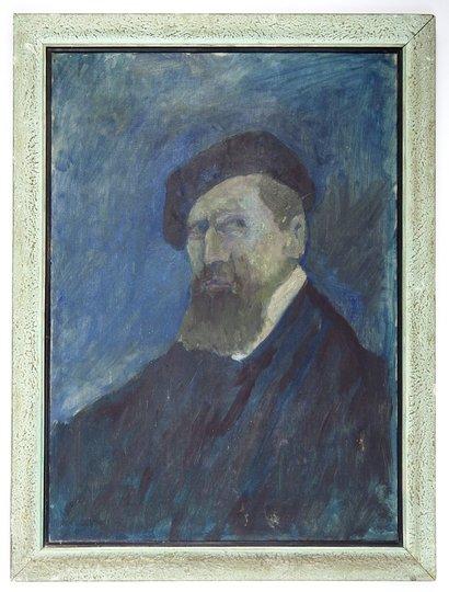 [WITKIEWICZKazimierz]. Autoportret Kazimierza Witkiewicza wykonany w XII 1960