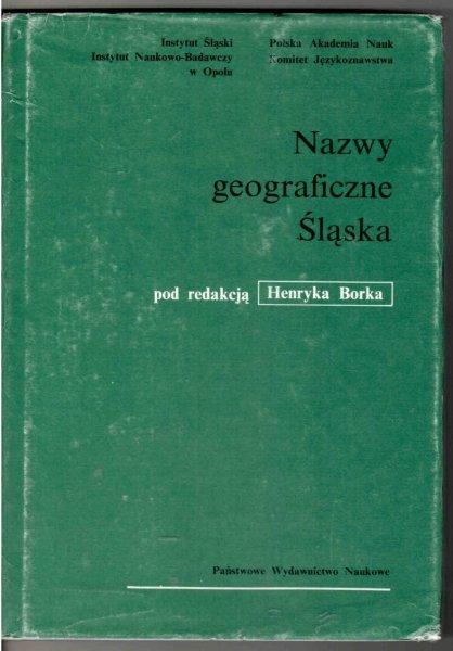Słownik etymologiczny nazw geograficznych Śląska pod red. Henryka Borka. T.4: H-Ki