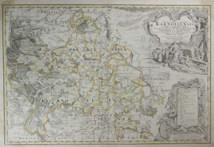 ŚLĄSK. Wieland Johann Wolfgang - Principatvs Silesiae Karnoviensis nova et exactissima Tabula [...].