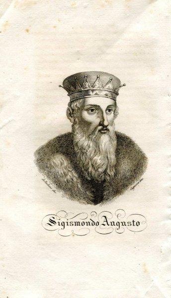 [Zygmunt August] Sigismondo Augusto - miedzioryt 1831