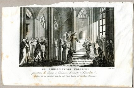 Gli Ambasciatori Polacchi - miedzioryt 1831