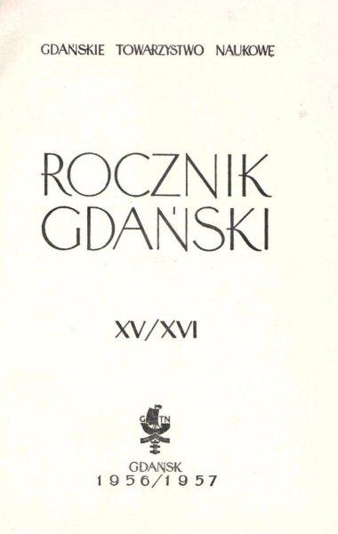 Rocznik Gdański XV/XVI