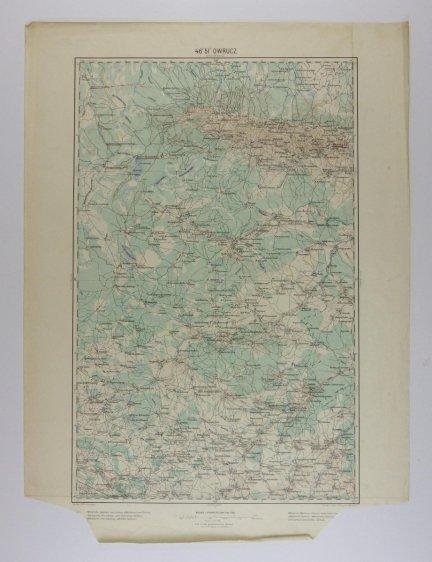 Owrucz - mapa 1:200 000