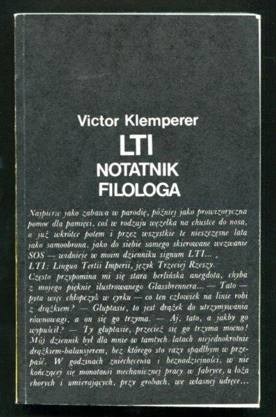 Klemperer Victor - LTI notatnik filologa. Przełożył, przypisami opatrzył Juliusz Zychowicz