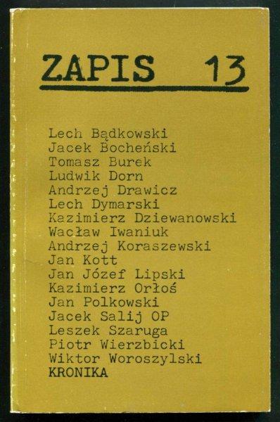 Zapis: poezja, proza, eseje, kronika. [R. 4], nr 13: I 1980.
