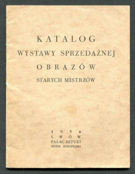 Poturzycka Galeria. Katalog wystawy sprzedażnej obrazów starych mistrzów.